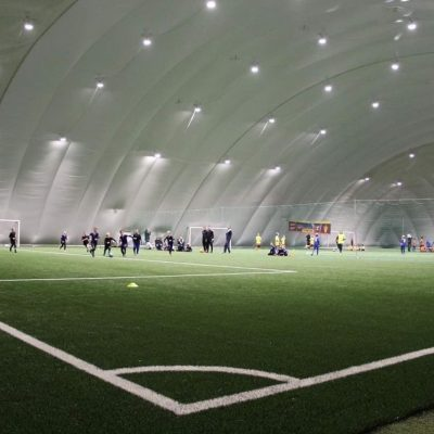 Air dome with moduliq multilayer sports flooring in Legnica, Poland.