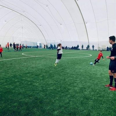 Air dome with moduliq multilayer football field built for Juventus Academy.