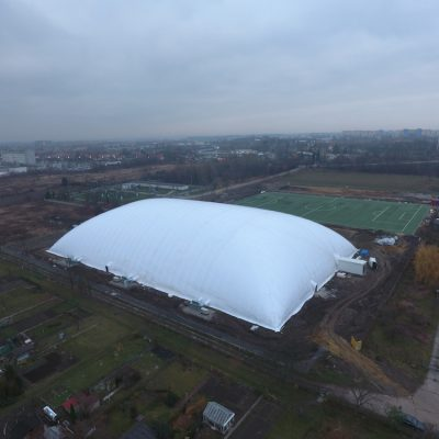 7700 sqm air dome in Wroclaw, Poland