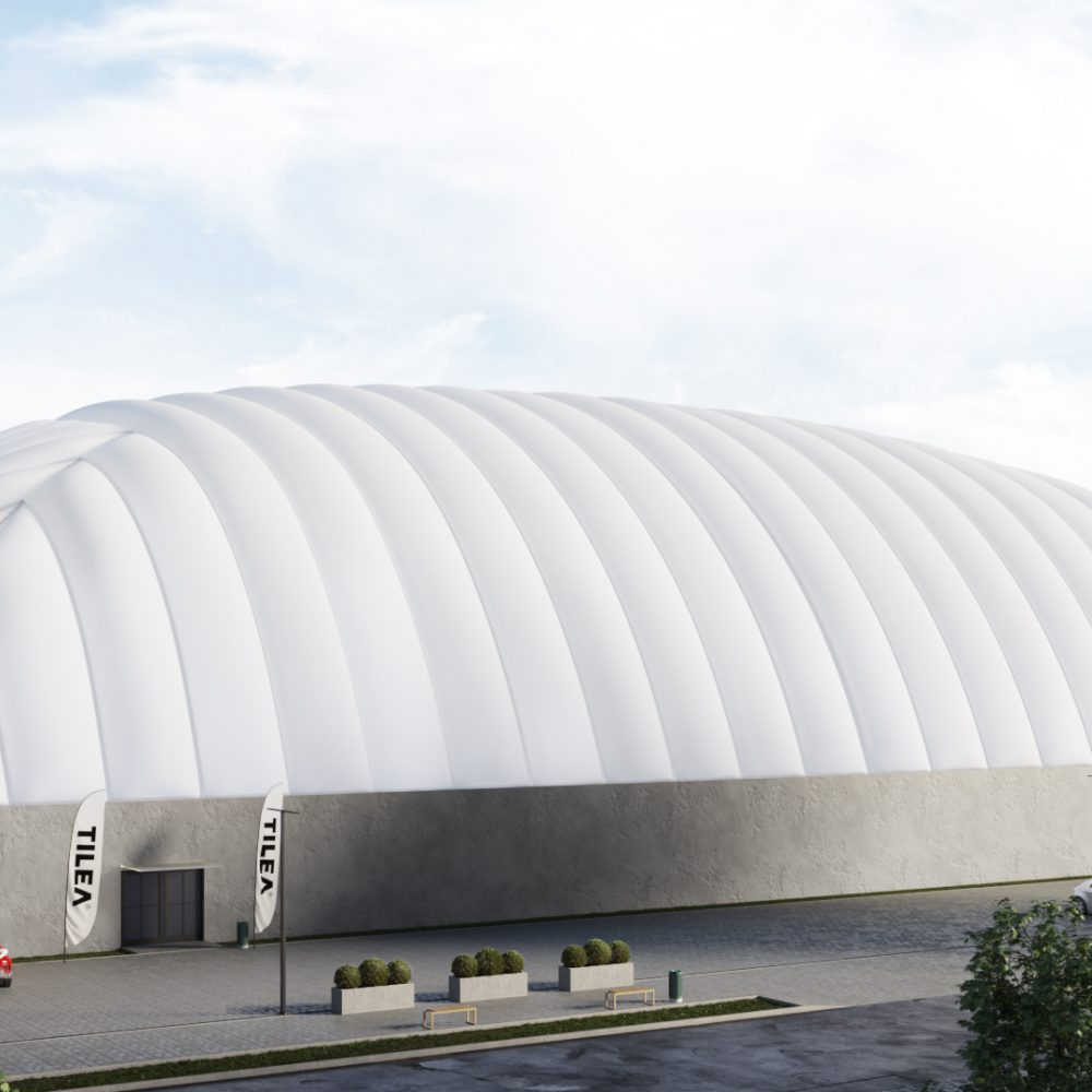 TILEA air dome on concrete wall
